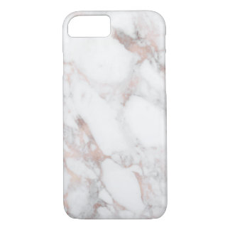 Sophisticated Marble with Faux Rose Gold iPhone 8/7 Case