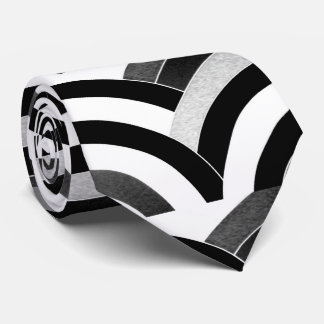 sophisticated modern black/white curved chevron tie
