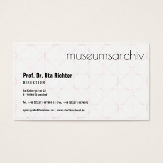 Sophisticated modern business card