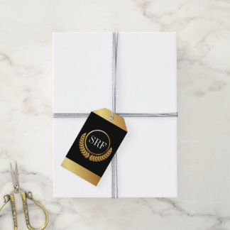 Sophisticated Monogram Gold Look Gift Tags Pack Of Gift Tags