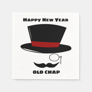 Sophisticated New Year Party Cocktail Napkins