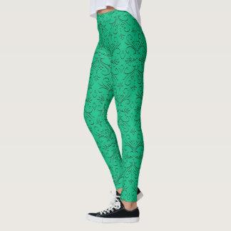 Sophisticated Nordic Damask Pop Fashion Leggings