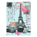 Sophisticated Paris eiffel tower vintage tea party