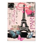 Sophisticated Paris eiffel tower vintage tea party Custom Announcements