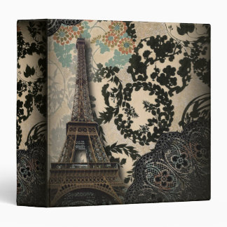 Sophisticated Paris floral Lace vintage wedding 3 Ring Binders