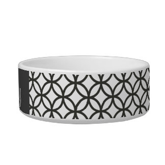 Sophisticated Pattern Dog Bowl