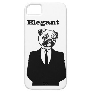 Sophisticated Pug iPhone 5 Cases