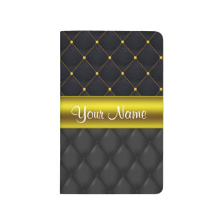 Sophisticated Quilted Black and Gold Journal
