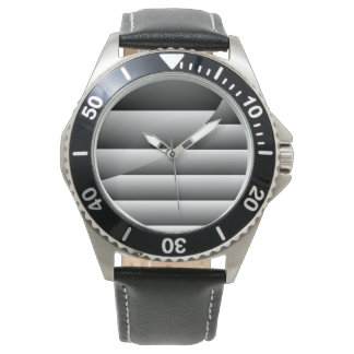 Sophisticated Silver Lines Wristwatches