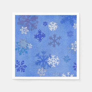 Sophisticated snowflake cocktail napkin paper napkins