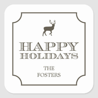 Sophisticated Tag Holiday Gift Stickers