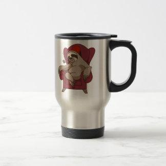 Sophisticated Three Toed Sloth Travel Mug