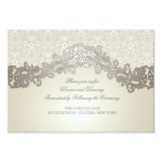 "Sophistication Wedding Enclosure Cards 3.5"" X 5"" Invitation Card"