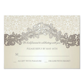 "Sophistication Wedding Response Cards 3.5"" X 5"" Invitation Card"