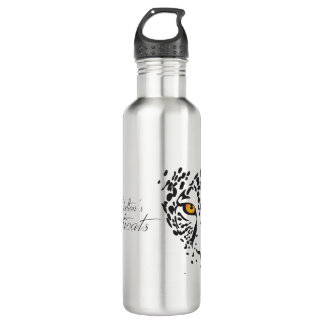 "Sophisticats ""Leopard"" water bottle"