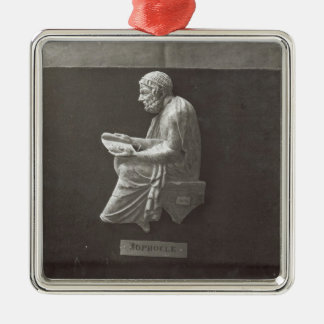 Sophocles  poet reading metal ornament