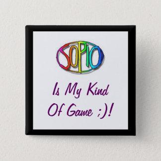 Sopio Fan Badge 2 Inch Square Button
