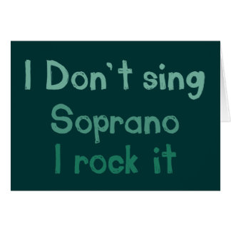 Soprano Rock It Greeting Card