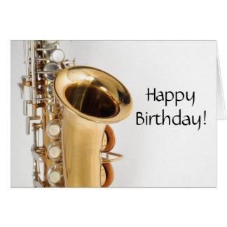 Soprano Saxophone Birthday Card