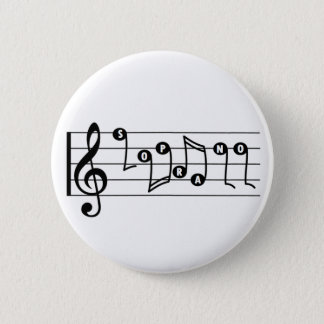 Soprano Singer Musical Button