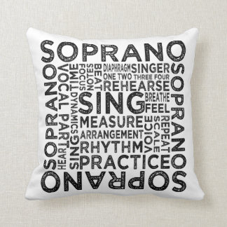 Soprano Typography Throw Pillow