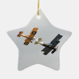 Sopwith Camel and Fokker D.VII Models Ceramic Star Ornament