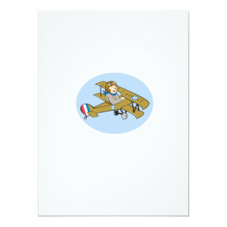 Sopwith Camel Scout Airplane Cartoon Custom Announcement