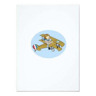 Sopwith Camel Scout Airplane Cartoon 11 Cm X 16 Cm Invitation Card