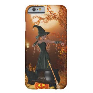 Sorcière de Halloween d'automne Coque iPhone 6 Barely There