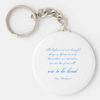 Soren Kierkegaard Basic Round Button Keychain