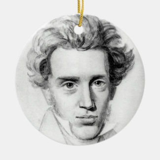 """SOREN KIERKEGAARD"" CERAMIC ORNAMENT"
