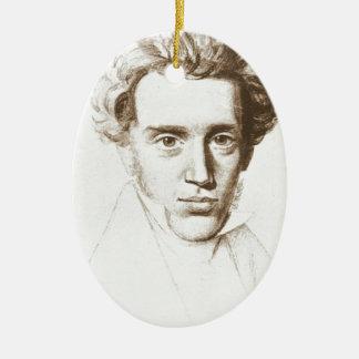 Søren Kierkegaard - Existentialist Philosopher Ceramic Oval Ornament