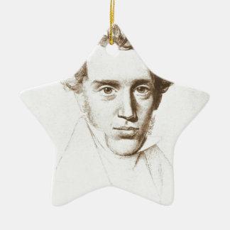 Søren Kierkegaard - Existentialist Philosopher Ceramic Star Ornament
