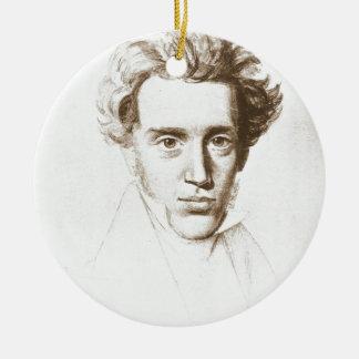 Søren Kierkegaard - Existentialist Philosopher Round Ceramic Ornament