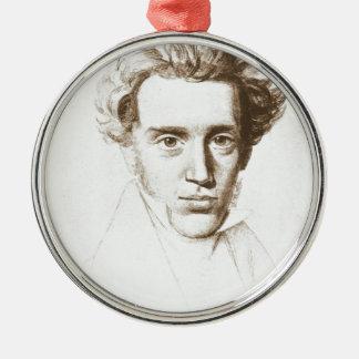 Søren Kierkegaard - Existentialist Philosopher Silver-Colored Round Ornament
