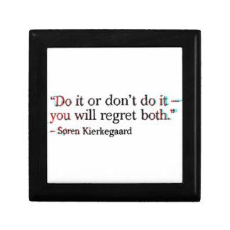 Soren Kierkegaard Famous Quote Gift Box