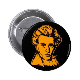 Soren Kierkegaard philosophy existentialist portra 2 Inch Round Button