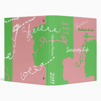 Sorority Pink and Green Binder