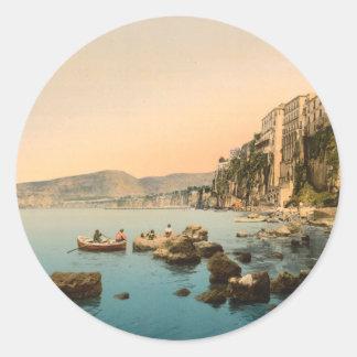 Sorrento by the Sea, Naples, Campania, Italy Classic Round Sticker