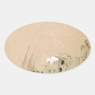 Sorrento. Sea view by Ivan Aivazovsky Oval Sticker