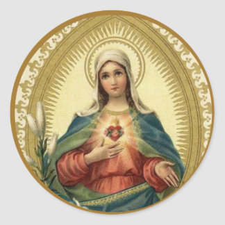 Sorrowful & Immaculate Heart of Virgin Mary Classic Round Sticker
