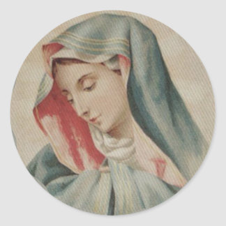 Sorrowful Mother Mary Mater Dolorosa Classic Round Sticker