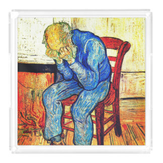 Sorrowing Old Man By Van Gogh Acrylic Tray