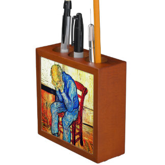 Sorrowing Old Man By Van Gogh Desk Organizer