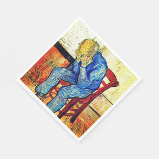 Sorrowing Old Man By Van Gogh Disposable Napkin