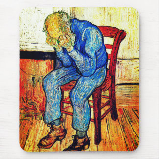 Sorrowing Old Man By Van Gogh Mouse Pad