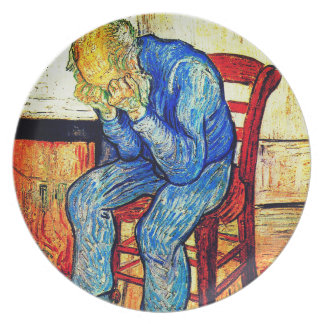 Sorrowing Old Man By Van Gogh Plate