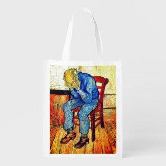 Sorrowing Old Man By Van Gogh Reusable Grocery Bag