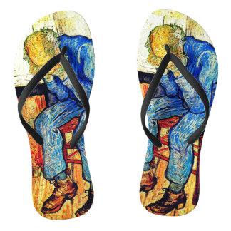Sorrowing Old Man Van Gogh Flip Flops