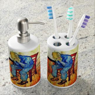 Sorrowing Old Man Van Gogh Soap Dispenser And Toothbrush Holder